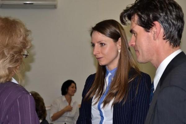 Dr. Kürti Adrienn, Kismaros új jegyzője Neubauer Rudolf polgármesterrel