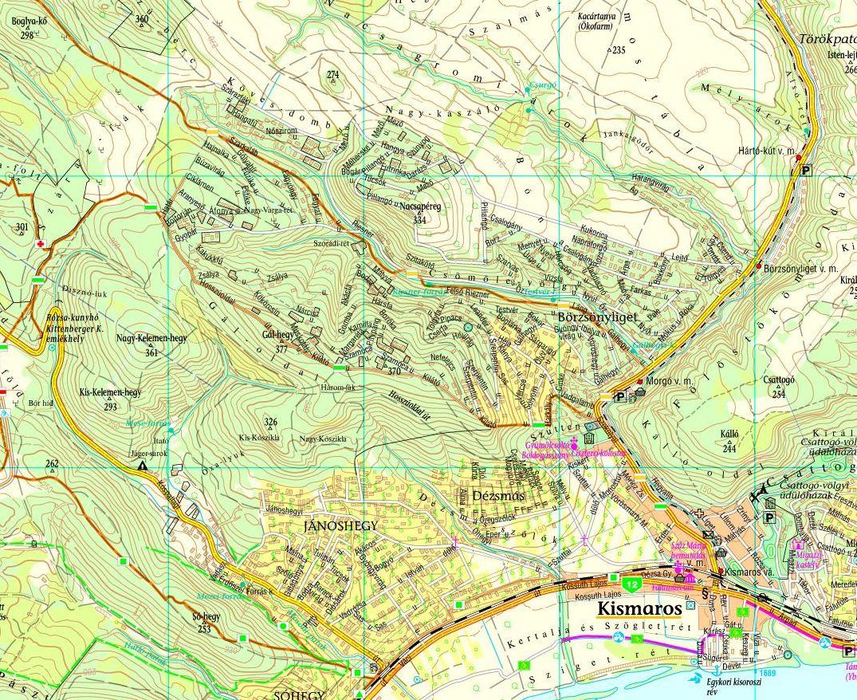 kismaros térkép Börzsönyliget/Jánoshegy/Öregszőlők – Térkép Kismarosról kismaros térkép