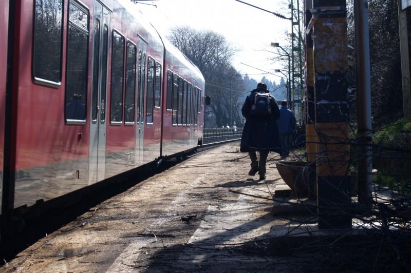 Vasúti pályakarbantartás Nagymaros és Szob között