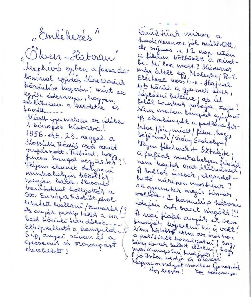 Kiss Máriuszné Néder Terézia megemlékezése_1956_született