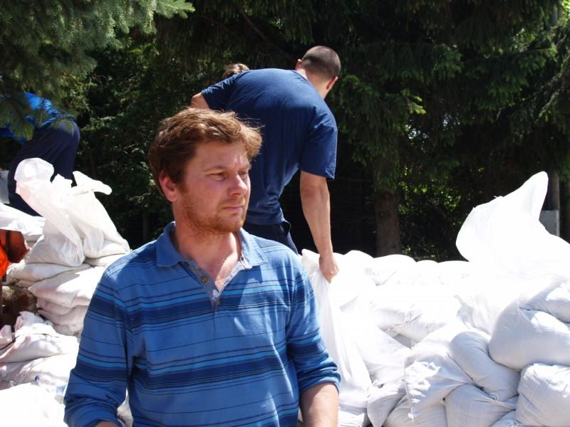 Bartha Ákos a 2013-as árvízi védekezésen