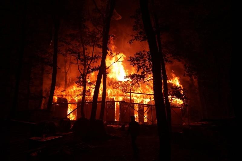 Tűz a Gálhegyi útnál