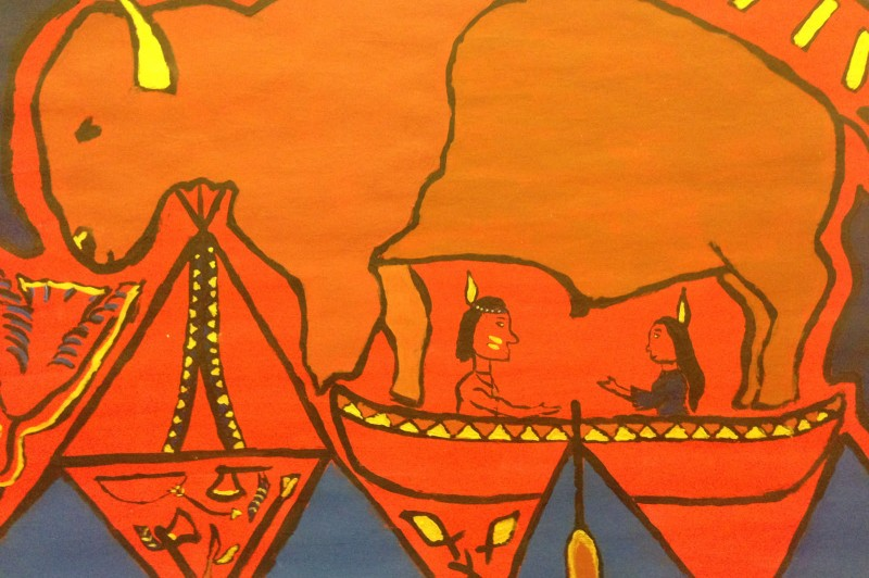 A rózsaszín ló, az ólomüveg és az indián – rajzszakkörök kiállítása a magyar kultúra napja alkalmából