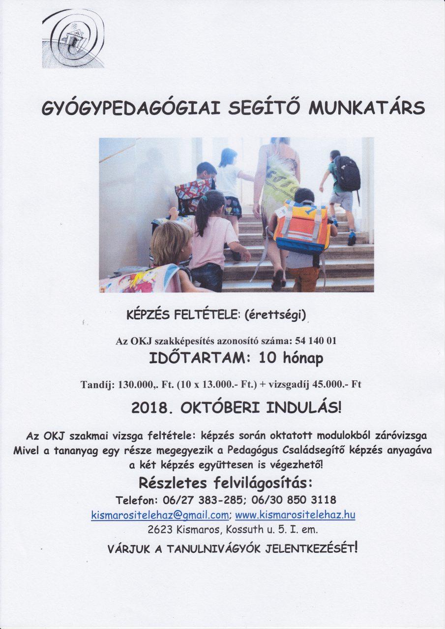Gyógypedógiai segítő plakát